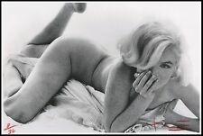 Bert Stern firmado, Marilyn Monroe. 100% algodón de Arte Lienzo. Lim/Ed (96A5)