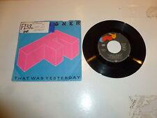 "FOREIGNER - That Was Yesterday - 1984 German 2-track 7"" Juke Box Vinyl Single"
