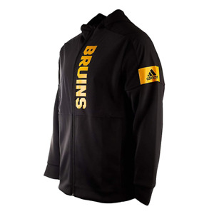Adidas Game Zone Boston Bruins Full Zip Jacket with Hood (New) Retails $74.99