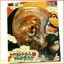 MEGAHOUSE JAPAN G.E.M GEM Naruto remix Uzumaki Naruto & Uchiha Sasuke Figure New
