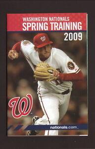 Washington Nationals--Ryan Zimmerman-2009 Spring Training Schedule-National City