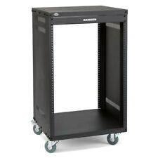 Samson 16 Unit Audio Equipment Universal Rack/stand Holder Cabinet Organiser BLK