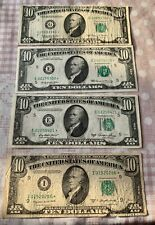 LOT 4 X 10 $ FEDERAL RESERVE STAR NOTE REPLACEMENT VF/AU