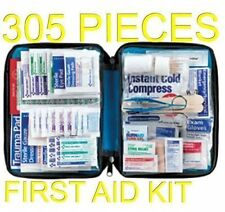 305 pc First Aid Kit Emergency Bag Home Car Outdoor American Red Cross Guide Set