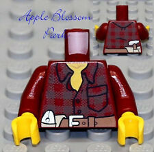 NEW Lego City Worker Male/Boy MINIFIG TORSO - Dark Red Shirt w/Miner Tool Belt