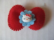Appliques 35 pcs Hello Kitty Cat Red Bow Padded Felt