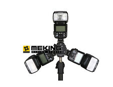 Triple 3 Heads Hot Shoe Mount 3in1 Adapter Speedlite Light Holder Bracket Camera