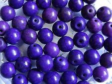 50 Purple Magnesite Round Stone Beads 10mm