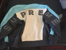 Supreme Studded Arc Logo Leather Jacket XL