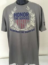 Patriotic Service Military Men's Short Sleeve Cotton Olive green Tee Shirt XXL