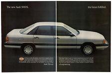 1983 AUDI 5000 S Vintage Original Print AD -Silver car photo 2 pages English Ca