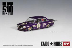 Mini GT+Kaido House 1/64 Datsun 510 Pro Street Alloy Model Car Die-cast - Purple