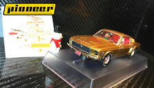 "Pioneer ""Santa's Stang"" Gold 1968 Ford Mustang 390 GT 1/32 Scale Slot Car P038"