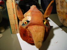 VINTAGE WOLF - Hand Carved Coconut Wolf Head - circa 1955 - TIKI