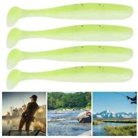 20PCS Grub Worm Soft Plastic Lure Fishing T-Tackle Bait Jig Head 7.5mm