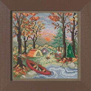 MILL HILL Buttons Beads Kit Counted Cross Stitch OUTDOOR ADVENTURE Fall Autumn