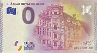 BILLET 0  EURO CHATEAU ROYAL DE BLOIS   FRANCE  2015  NUMERO 100