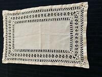 Vintage Pulled-Thread Style Rectangular Doily Dresser Scarf Light Beige Excel.