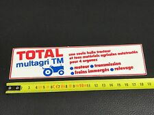 Autocollant sticker CAR TOTAL TRACTEUR TRACTOR HUILE OIL