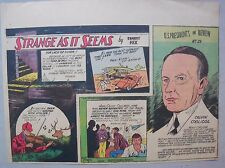 Strange As It Seems: USA President Calvin Coolidge by Hix from 10/22/1944
