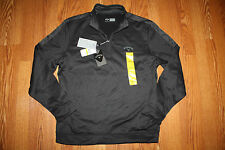 NWT Mens CALLAWAY Opti-Therm -Shield Caviar Black 1/4 Zip Pullover Jacket M $95