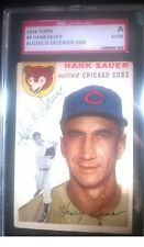 Hank Sauer Signed 1954 Topps Card #4 SGC Authentic Slabbed