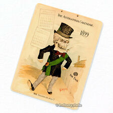 Antikamnia 1899 Calendar #2 Deco Magnet, Antique Illustration Skeleton Fridge