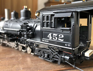 On3 Mountain Model Imports D&RGW K-27 #452 Factory Painted Mudhen