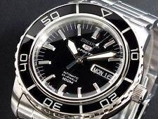 SEIKO 5 SNZH55 SNZH55K1 Automatic 100m Diver New in Box Black #
