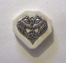 "Celtic wolfs Hard Polymer Clay Mold DIY Jewelry Pendant Size 1-1/4""x1-3/8"""