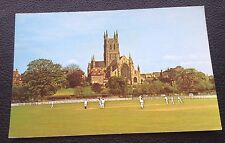 POSTCARD: THE CATHEDRAL FROM THE COUNTY CRICKET GROUND: WORCESTER: POSTED