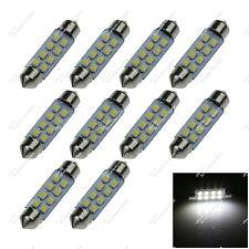 10X White 41mm DE3021 8 SMD 1210 LED Festoon Bulb Interior Light Lamps Car ZI304