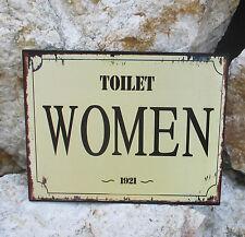 tableau-paroi- PLAQUE EN TOLE Panneau pour porte toilette wc femme occidental