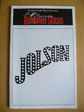 1999 BROADWAY SERIES Theatre PROGRAMME:MIKE BURSTYN in JOLSON by BILL CASTELLINO
