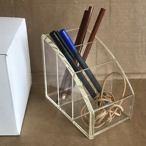 Perspex Display Stand Organiser Rack - Plastic -  for Card, Stationary, Make Up