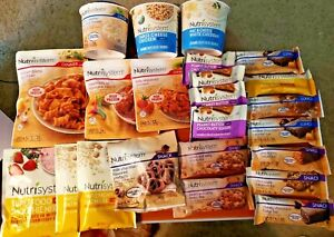 Lot of 23 Nutrisystem Meals - Food - Breakfast, Lunch, Dinner and Snacks