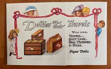 Collectible Toy - Dollies on their Travels Paper Dolls Pub. 1984