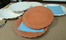 17 peices of high quality unfinished pottery 8 platters and some other cool ones