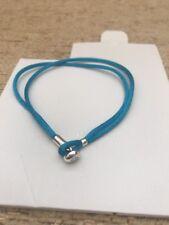 New Genuine Pandora Turquoise Fabric Cord Bracelet 590749CTQ-S2 19cm