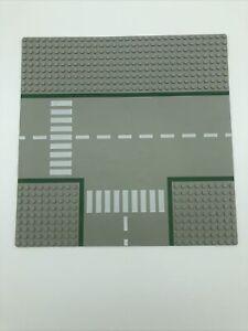 Lego 32x32 T Junction Grey Baseplate Intersection Crosswalk Pattern 2360