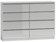 MALWA CHEST OF DRAWERS M8 140 - WHITE GLOSS