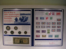 World War II 50th Anniversary Portfolio - Coin Currency Stamp Commemorative