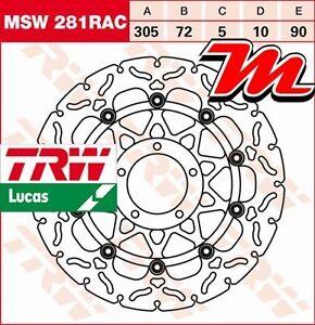 Disque de frein Avant TRW Lucas MSW 281 RAC pour Ducati 1100 Multistrada 2003-09