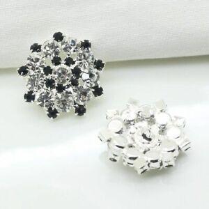 10pcs/lot 22mm Silver Metal Buttons Diamante Rhinestone Wedding Sewing Clothing
