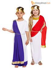 Kids Girls Boys Greek Roman Toga Fancy Dress Costume Goddess Caesar Book Week