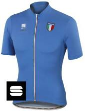 Sportful Men's Team Italia CL Full Zip Cycling Jersey Electric Blue