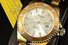 Invicta Pro Diver 43mm Coin Edge Silver Suray Dial 18k GoldPlated 2-Tone SS Watc