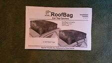 RoofBag Cross Country 100% Waterproof Soft Car Top Carrier for Any Car Van or...