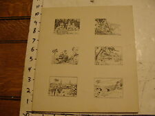 L.H. HART art: WWII era Asian--print of 6 works, probably made into post cards