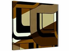 Brown Cream Painting Stairway Canvas Pictures Decor - Abstract 1s413m - 64cm